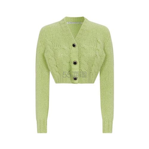 Alessandra Rich 肯豆同款 羊毛短款针织开衫