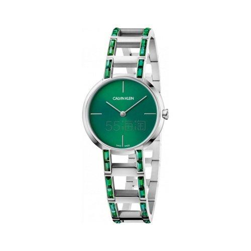 近期低价!Calvin Klein 卡尔文·克莱因 Cheers 系列 绿色女士时尚腕表 K8NT3XWL .99(约356元) - 海淘优惠海淘折扣 55海淘网