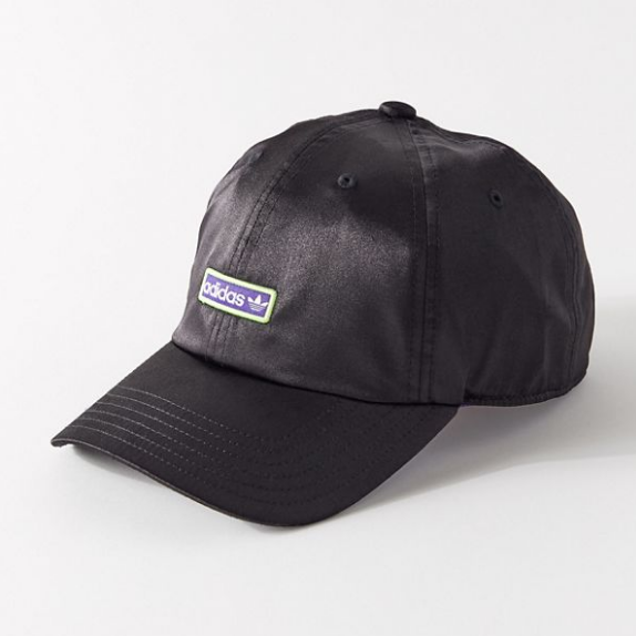 adidas Originals 阿迪达斯三叶草 Metallic Relaxed Baseball Hat 丝缎棒球帽