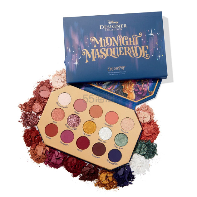 ColourPop 迪士尼合作系列眼影盘 midnight masquerade (约156元) - 海淘优惠海淘折扣 55海淘网