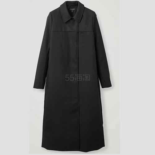 COS 黑色风衣 0(约709元) - 海淘优惠海淘折扣|55海淘网