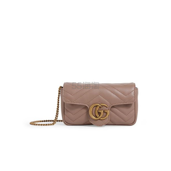 【澳门定价】Gucci Mini Marmont Matelassé 单肩包 港币5,768.38(约5,215元) - 海淘优惠海淘折扣|55海淘网