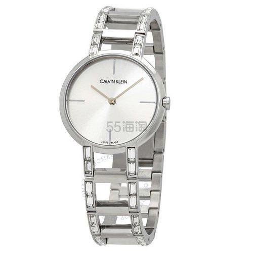 【55专享】降价!Calvin Klein 卡尔文·克雷恩 Cheers 系列 银色女士时装腕表 K8NY3TK6