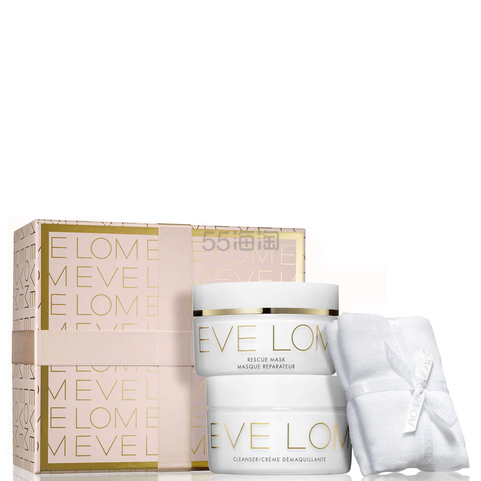 1套免费直邮!EVE LOM 卸妆膏100ml+急救面膜100ml+洁面巾 圣诞套装 ¥503.5 - 海淘优惠海淘折扣|55海淘网