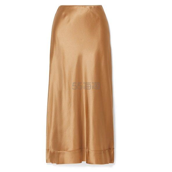 LEE MATHEWS Stella 丝缎中长半身裙 £260(约2,330元) - 海淘优惠海淘折扣|55海淘网