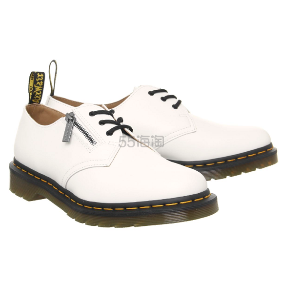 DR. MARTENS X BEAMS 1461 白色经典拉链牛津鞋 3(约794元) - 海淘优惠海淘折扣|55海淘网