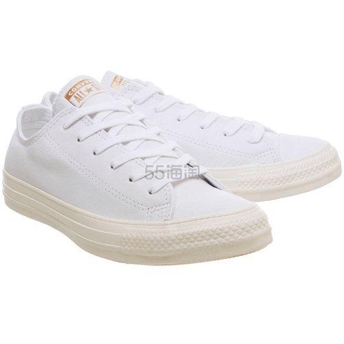 Converse 匡威 Allstar 白色皮质低帮鞋 £38(约341元) - 海淘优惠海淘折扣|55海淘网