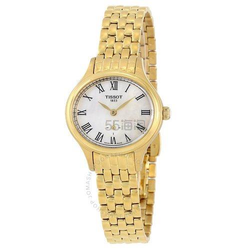 【55专享】好价!Tissot 天梭 Bella Ora 系列 金色女士气质腕表 T103.110.33.113.00