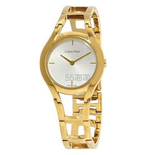 【55专享】好价!Calvin Klein 卡尔文·克雷恩 Class 系列 金色女士时装腕表 K6R23526