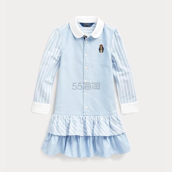 Ralph Lauren 拉夫劳伦 Bear Striped 2-6岁小童衬衫裙 .49(约221元) - 海淘优惠海淘折扣|55海淘网