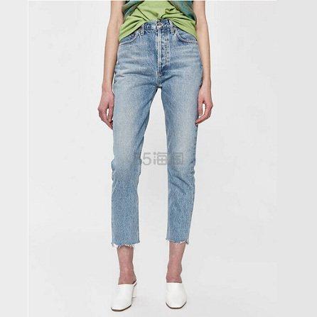 Agolde Riley 九分高腰直筒牛仔裤 1.6(约921元) - 海淘优惠海淘折扣|55海淘网