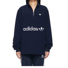 adidas Originals 海军蓝羊毛毡卫衣