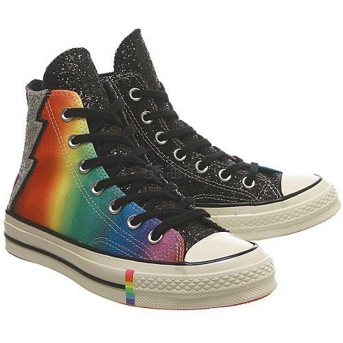 Converse 匡威 Chuck 70 Pride 彩虹闪电高帮鞋