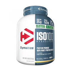 Dymatize ISO 100 水解乳清蛋白营养粉 甜叶菊增甜 香草味 5磅