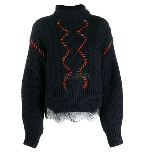 SELF-PORTRAITcontrast stitch 女款毛衣 港币2,176.2(约1,964元) - 海淘优惠海淘折扣 55海淘网