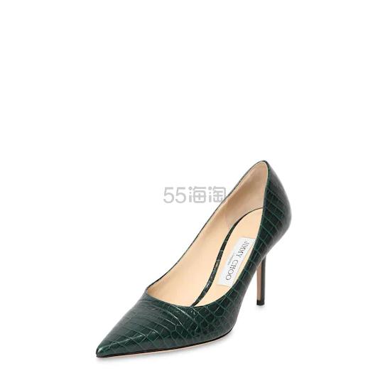 JIMMY CHOO 85毫米LOVE鳄鱼纹压纹皮革高跟鞋 0(约3,793元) - 海淘优惠海淘折扣|55海淘网