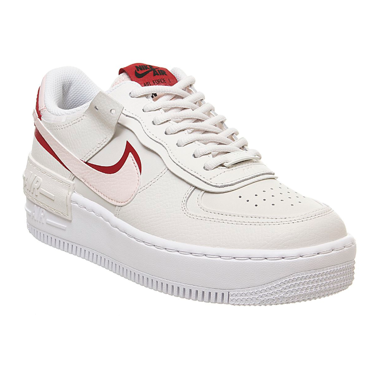 NIKE AIR FORCE 1 Shadow 红粉双 swoosh 运动鞋