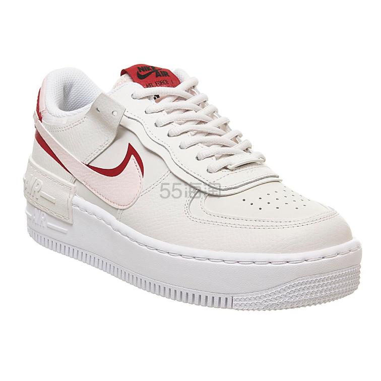 【码全】NIKE 空军1号 Shadow 红粉 swoosh 运动鞋