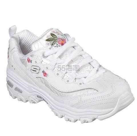 【额外8折】Skechers DLITES 玫瑰刺绣老爹鞋 大童款 .56(约292元) - 海淘优惠海淘折扣|55海淘网