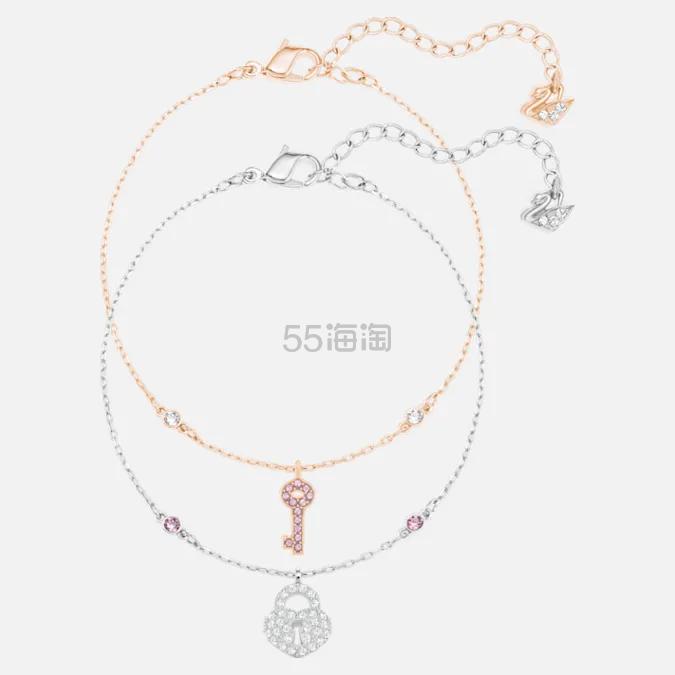 Swarovski Crystal Wishes 双层钥匙手链