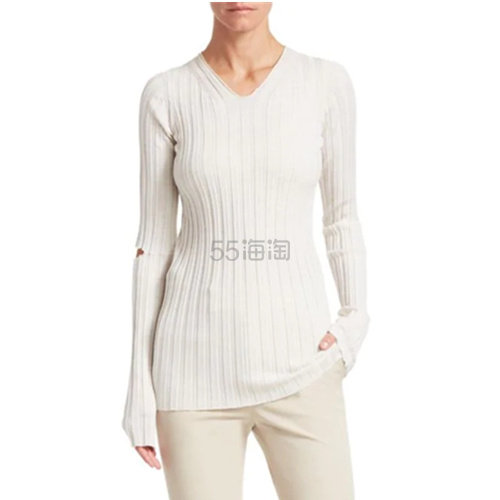 Helmut Lang 羊毛修身个性破洞打底衫 7.99(约969元) - 海淘优惠海淘折扣|55海淘网