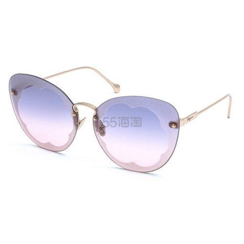 【55专享】Ferragamo 菲拉格慕 粉紫色太阳镜