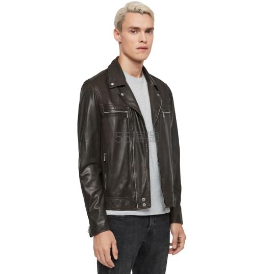 AllSaints Hale Leather 男士皮夹克 £156.8(约1,403元) - 海淘优惠海淘折扣|55海淘网