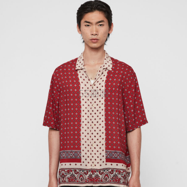 AllSaints Maltese 男士衬衫 £47.2(约422元) - 海淘优惠海淘折扣|55海淘网