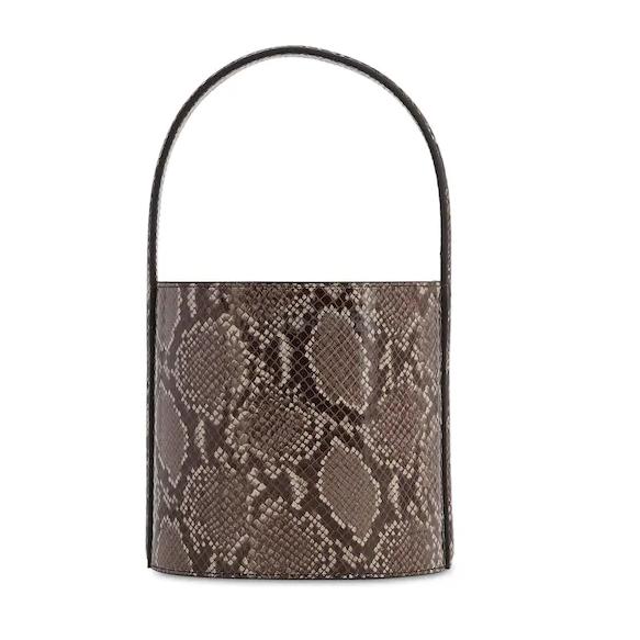 STAUD BISSET蟒蛇纹印花手提包 0(约2,105元) - 海淘优惠海淘折扣|55海淘网