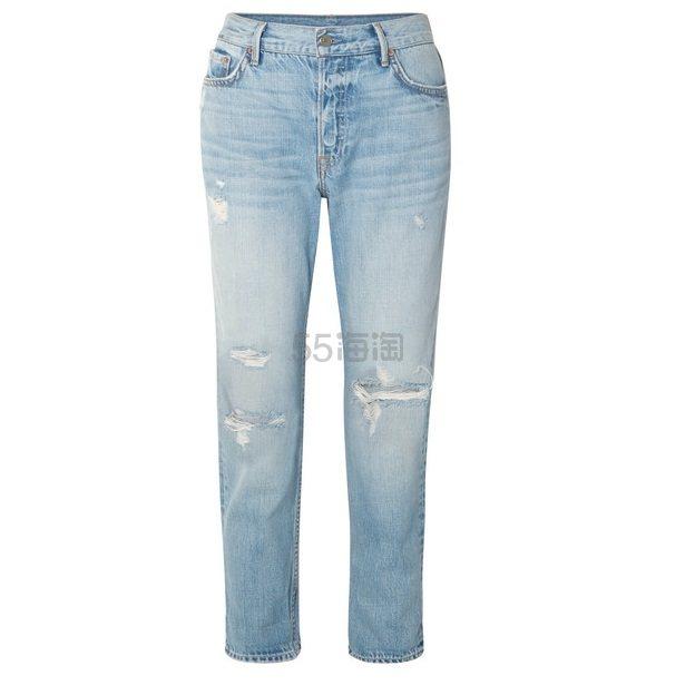 GRLFRND Olivia 仿旧窄腿男友式牛仔裤 £221(约2,015元) - 海淘优惠海淘折扣|55海淘网