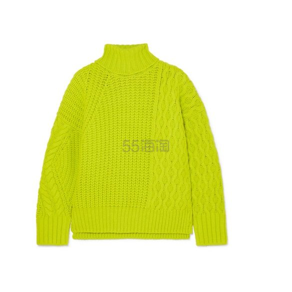 ANDERSSON BELL Alto 荧光绞花针织羊毛混纺毛衣 £410(约3,739元) - 海淘优惠海淘折扣|55海淘网
