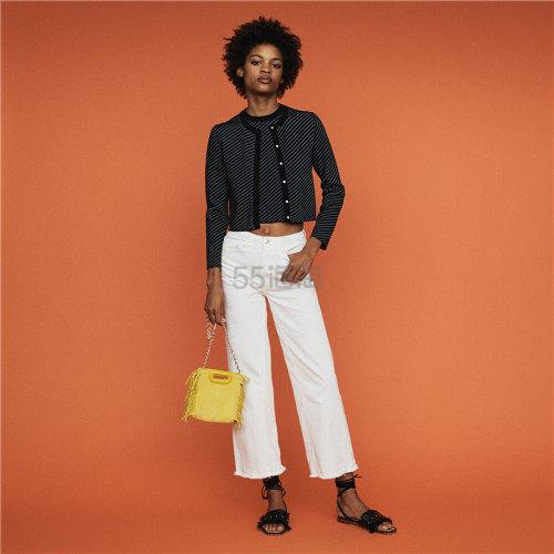 Maje 短款条纹开衫外套 8(约826元) - 海淘优惠海淘折扣|55海淘网