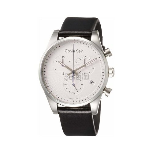 降价!Calvin Klein 卡尔文·克莱因 Steadfast 系列 银黑色男士时装腕表 K8S271C6 .99(约632元) - 海淘优惠海淘折扣|55海淘网