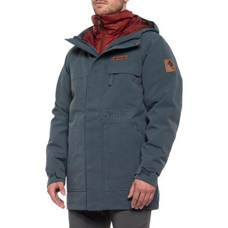 码全!Columbia 哥伦比亚 Catacomb Crest Omni-Heat 男款派克大衣
