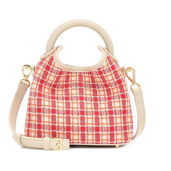 【独家发售】ELLEME Madeleine 红白格纹包包