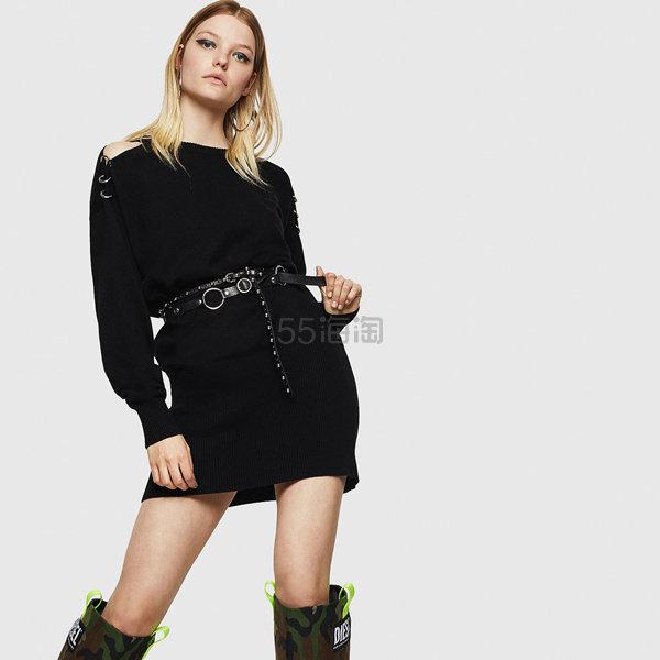 Diesel 圆环装饰露肩长袖卫衣裙 1(约1,198元) - 海淘优惠海淘折扣|55海淘网
