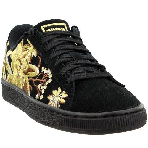 Puma 彪马 Suede Hyper 黑金刺绣运动鞋 .95(约210元) - 海淘优惠海淘折扣|55海淘网
