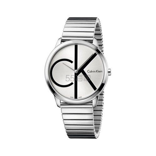 好价!Calvin Klein 卡尔文·克莱因 Minimal 系列 银色男士时装腕表 K3M211Z6