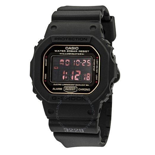 【55专享】比伯同款!补货!Casio 卡西欧 Classic 系列 黑色男士运动腕表 DW5600MS-1