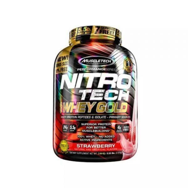 【包税免邮】MuscleTech Nitro Tech 健身增肌能量100%乳清蛋白粉 草莓味 5磅 ¥459 - 海淘优惠海淘折扣 55海淘网