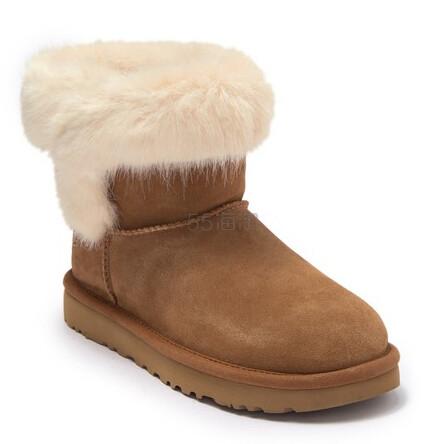 新低价~UGG Cathie Faux Fur 雪地靴 .98(约558元) - 海淘优惠海淘折扣|55海淘网