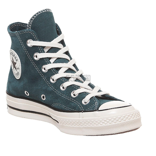 Converse All Star 蓝绿色麂皮高帮帆布鞋 7(约750元) - 海淘优惠海淘折扣|55海淘网