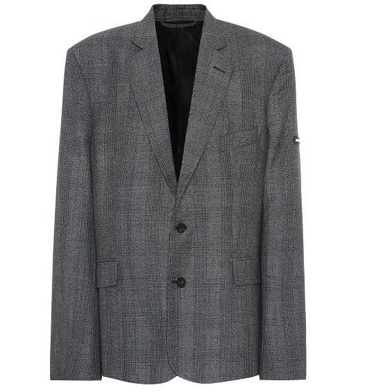 BALENCIAGA 灰色西装外套