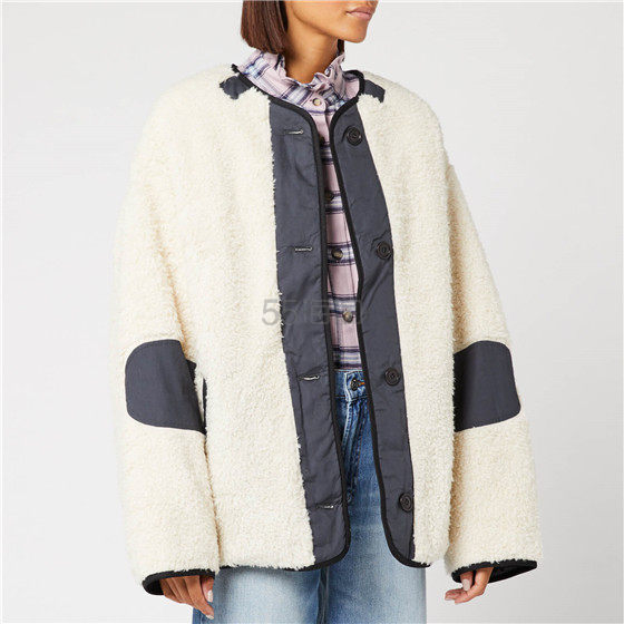Isabel Marant Étoile 羊羔毛双面穿夹克 ¥2,709 - 海淘优惠海淘折扣 55海淘网