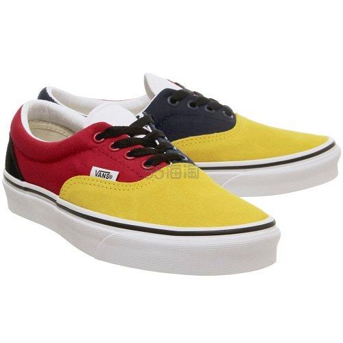 Vans 万斯 Era 红黄蓝拼色低帮板鞋 £30(约276元) - 海淘优惠海淘折扣|55海淘网