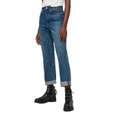 AllSaints MARI HIGH-RISE CROPPED 高腰男友风牛仔裤