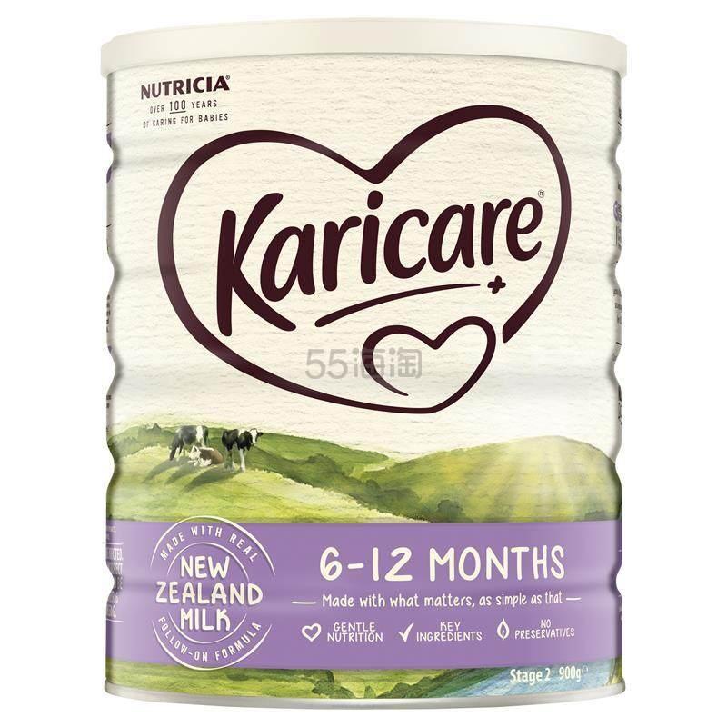 【55专享】Karicare+ 2 婴幼儿配方奶粉 6个月+ 900g 19.69澳币(约96元) - 海淘优惠海淘折扣|55海淘网