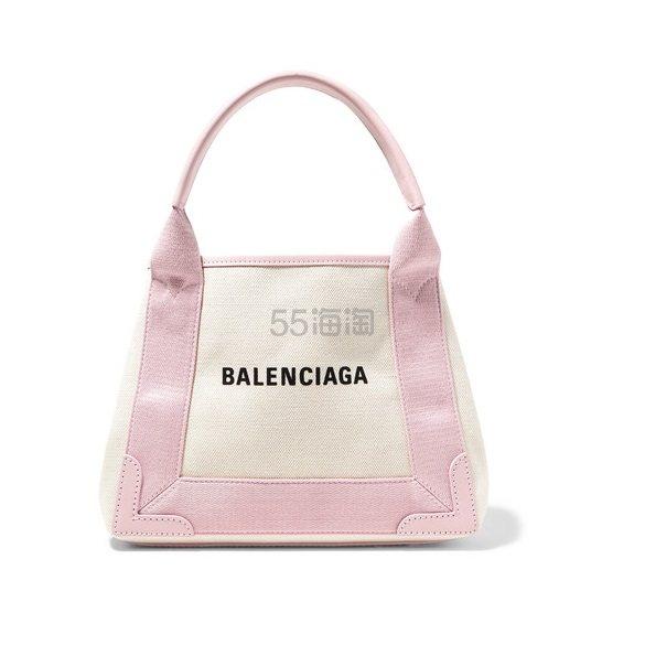 BALENCIAGA Cabas XS AJ 皮革边饰印花帆布手提包 £464.1(约4,233元) - 海淘优惠海淘折扣 55海淘网