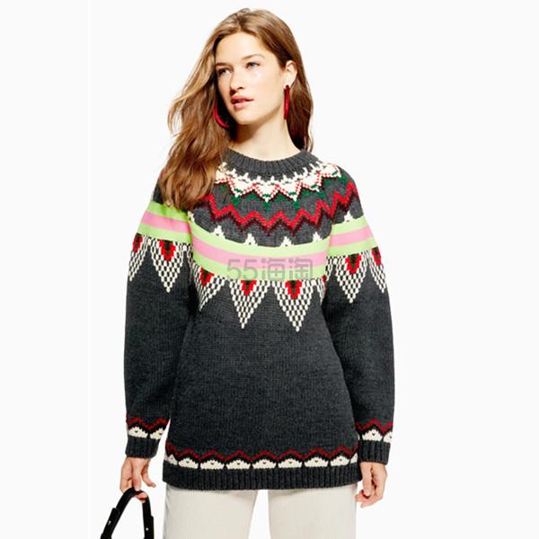 Topshop  费尔岛女士宽松毛衣 £15(约138元) - 海淘优惠海淘折扣 55海淘网