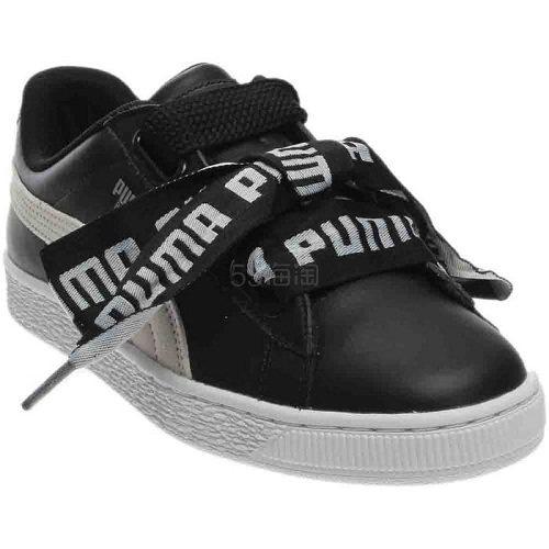 Puma 彪马 Basket Heart DE 黑色蝴蝶结运动鞋 .97(约245元) - 海淘优惠海淘折扣|55海淘网